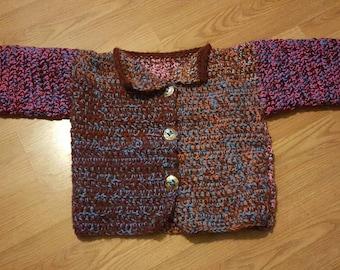 Scraptastic Crochet Sweater (large)