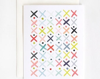 X's and O's - A2 Greeting Card