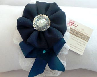 Blue hard headband