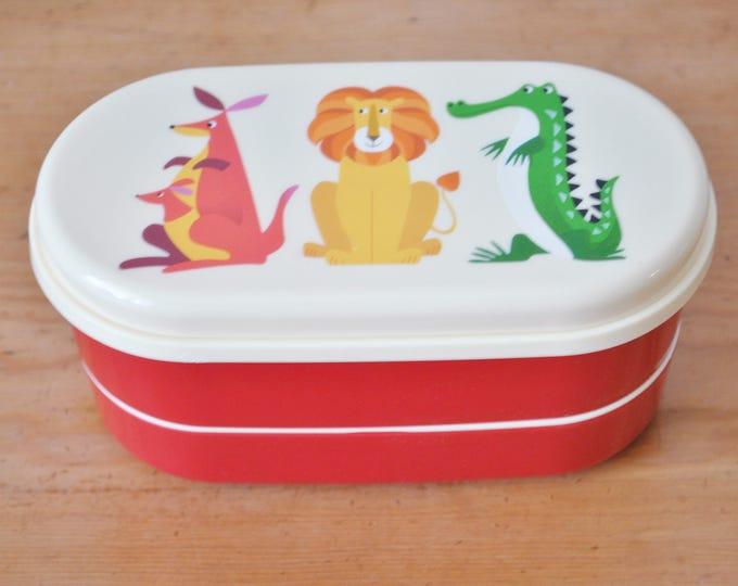 Swedish Bento Box Animals Children's Lunch Snack Set