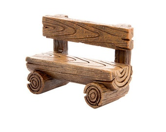 Fairy Garden Bench - Rustic Woodland Log Bench Fairy Garden Accessories Fairy Garden Furniture for Fairy House Garden Miniatures Chair