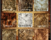 Plush Faux Fur Shaggy Shag Animal Fur Fabric Sample Color Swatches - 16 Colors - Designer Premium Fur by Fur Accents - USA