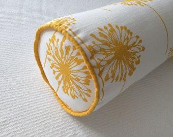 Yellow Dandelion Bolster Pillow Cover, Decorative Corn Yellow Bolster Pillow Cover, 6''x16''