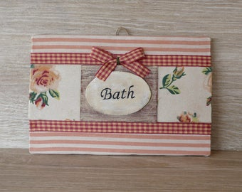 Shabby Chic/Country Style Handmade Bath Accessory Textile Color Salmon