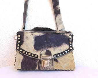 unique and small cow satchel