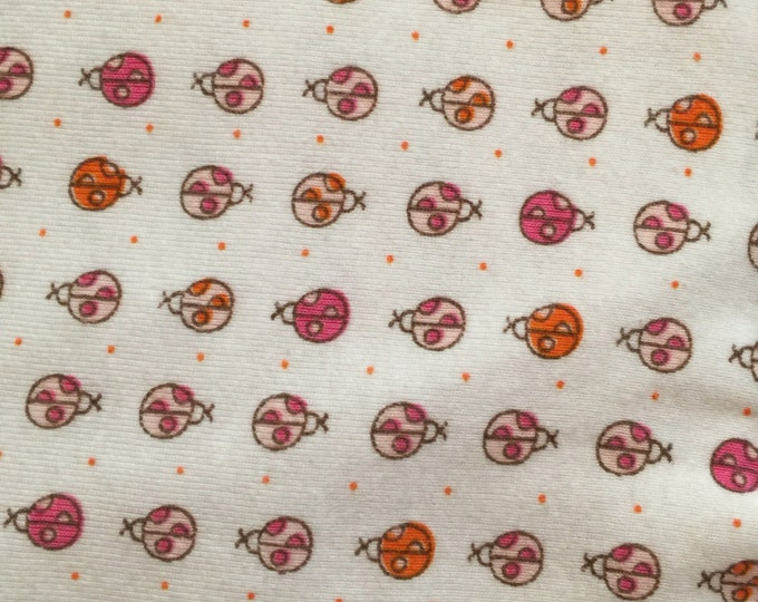 Etsy Studio Opening Sale  15% .  Use code studioElite Fabrics/ladybugs/cotton knit stretch/ perfect for baby items