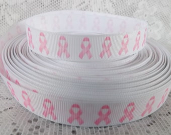 Cancer ribbon pink breast cancer ribbon 5/8 cancer awareness ribbon pink awareness ribbon