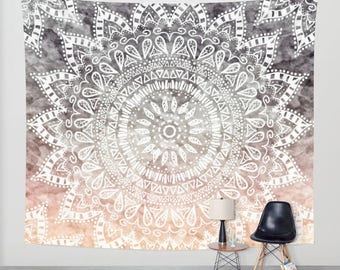 BOHEMIAN HYGGE MANDALA - Boho Wall Tapestry