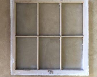 Vintage Wood Six Pane Window
