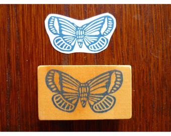 Rubber stamp little butterfly