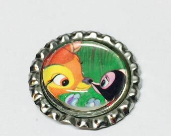Bambi Bottlecap Pin Back Button/Keychain/Necklace/Retractable Badge Reel/Bracelet Disney