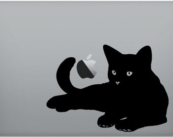 Cat sticker A5 size for MacBook Pro/MacBook Air/ Laptop/ Tablet  decal 11 13 15 17""