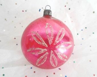 Vintage Christmas Ornament, Raspberry Christmas Ornament, Glass Christmas Ornament, Poland Christmas Ornament, Floral Christmas Ornament