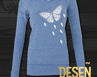 BUTTERFLY Geometric jumper Women's sweatshirt Bella and Canvas