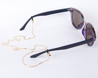 Golden Necklace Sun Glasses  Gold Chain For Glasses  Summer Jewelry Accessoires for Glasses Layer Look