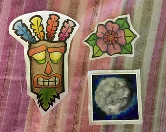 Miscellaneous Hand Drawn OOAK Stickers