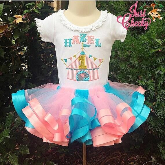 Circus Birthday Tutu Outfit - Circus Tent - Circus Elephant - Circus Birthday Outfit -Girls Circus -Carnival Tutu Outfit -Circus Tutu Outfit