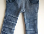Up-Cycled 4 Pocket Distressed Skinny Jeans - fits 18 inch Girl and Boy Dolls