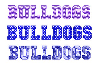 Bulldogs in 3 different cutout patterns Look great on your Team Jersey SVG Studio Pdf PNG Eps
