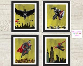Superhero wall decor | Etsy