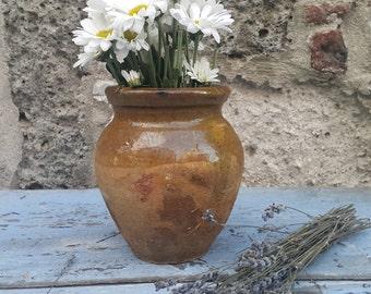 Ceramic Earthenware Mini Pot,Terracotta Pots.Vintage Jar,Primitive Mini Pottery