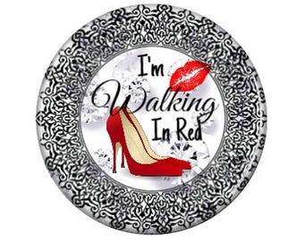 I'm Walking In Red - Interchangeable pendant Insert