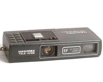 Vintage Rangefinder Camera Hanimex Tele-hanomatic 110 Film Camera C1565