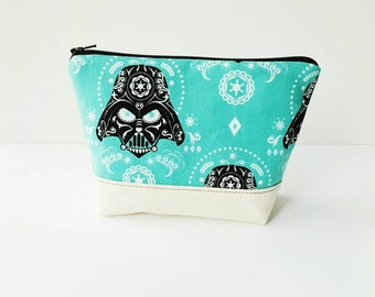 LISTING FOR SF Darth Vader Sugarskull Zippered Pouch - Star Wars Zippered Pouch - Ready to Ship - May the 4th be with you