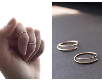 Knuckle Ring Set - midi ring, gold midi ring, knuckle ring, minimalist ring, gold filled ring, sterling silver ring, dainty ring, knuckles