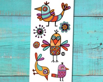 Temporary Tattoos - The funny birds