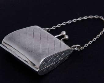 Sterling Silver Pill Trinket Miniature Purse