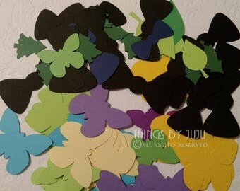 Die Cuts Grab Bag, Scrapbooking, Classroom Project, Journal Embellishments, Destash,Assorted Die Cuts, Butterfly, Bow Ties, Junk Journal