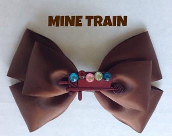 mine train hair bow