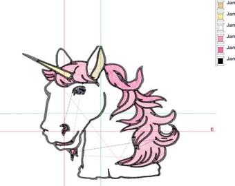 Sale .50 off Unicorn embroidery design
