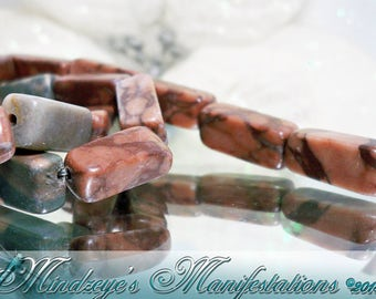 """1- 15"""" Strand of Canyon Marble (natural), 14x6mm+"""