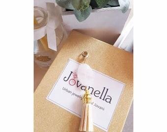 rose quartz bag charms, love keychain, keychains for women, heal crystal and stone,love stone, rose quartz pendant, bag tassel charms, boho