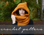 PATTERN: Knitbrooks Hooded Scarf Instant Download