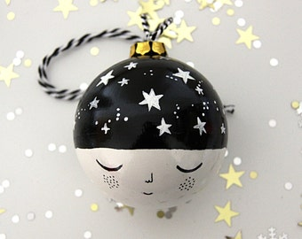 Made of Stars Monochrome Black and White Bauble