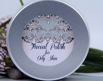 Exfoliating facial polish for oily skin