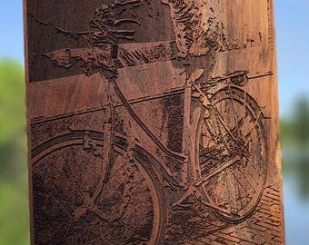 Laser Engraved Wooden Photography - Amsterdam Alley