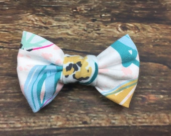 Toddler/Girl Bow Hair Alligator Clip in Floral Prints