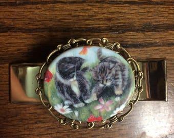 Kitten, cat, kitty,  hair clip, alligator clip