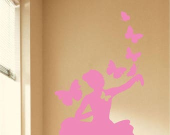 Butterfly | Ballerina wall decal | Ballerina nursery | Ballerina decal | Ballet decal | Ballet Dancer | Ballerina Decor | Ballerina Sticker