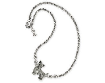 Yorkie Puppy Necklace Jewelry Sterling Silver Handmade Dog Necklace YK37-NK