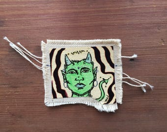 Demon vibrations canvas patch