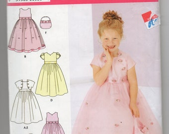 Uncut 0675 Simplicity Sewing Pattern Girls Flower Girl or Princess Dress & Jacket Size 5 6 7 8