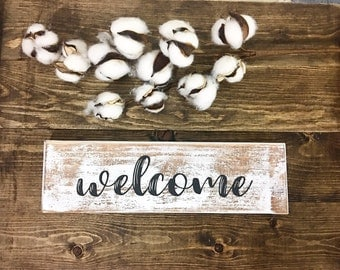 Welcome sign - Rustic