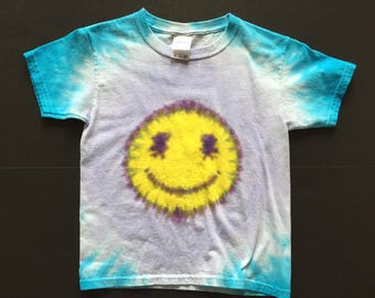 Smiley Face shirt - Tie Dyed T-shirt
