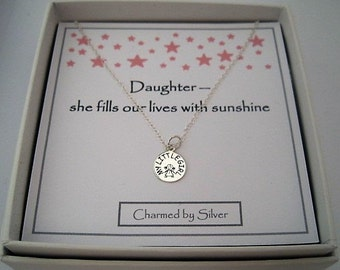 Sterling Silver Little Girl Charm Necklace - a perfect gift for a daughter
