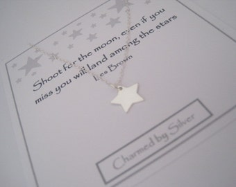 Sterling Silver Wishing Star Necklace